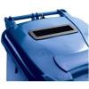 Wheelie Bin High Density Polythene with Rear Wheels 120 Litres Blue