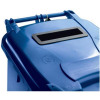 Wheelie Bin Slot and Lid Lock UV Stabilised Polyethylene 140 Litres Blue