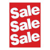Sales Poster with Sale Text A1 White on Red