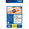 Brother P-Touch TZe-131S 12mmx4m Black On Clear Labelling Tape Ref TZE131S *3 to 5 Day Leadtime*
