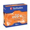 Verbatim DVD-R 8cm 1.4gb Jewel Case Ref 43510 [Pack 5] *3 to 5 Day Leadtime*