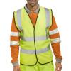 High Visibility Vest Polyester XXL-XXXL Yellow