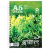 Silvine Premium Notebook Recycled Wirebound Ruled 120pp 80gsm A5 Ref R103 [Pack 5] [Promo]