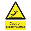 Stewart Superior Caution Slippery Surface Sign Self Adhesive Vinyl 150x200mm Ref WO134SAV