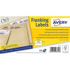 Avery FL09 Franking Labels QuickDry 500 Labels 155x45mm White [Pack 2]