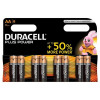 Duracell Plus Power Battery Alkaline AAA Size 1.5V Ref 81275401 [Pack 8]