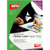 Apli Laser Paper Glossy Double-sided 210gsm A4 Ref 11833 [100 Sheets]