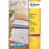 Avery Addressing Labels Laser Jam-free 14 per Sheet 99.1x38.1mm White Ref L7163-100 [1400 Labels]