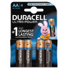 Duracell Ultra Power MX1500 Batteries AA 1.5V Ref 81235491 [Pack 4]