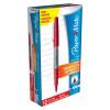 Papermate Ultrafine Felt Tip Pen 0.8mm Tip 0.4mm Line Red Ref S0901340 [Pack 12]