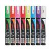 uni Chalk Marker Broad Chisel Tip PWE-8K Line Width 8mm White Ref 153494344 [Pack 4]
