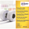 Avery Labels for Labelling Gun 1-Line Permanent White 12x26mm 1500 Per Roll Ref PLP1226 [Pack 10]