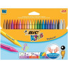 Bic Kids Plastidecor Crayons Colour Hard Long-lasting Sharpenable Vivid Assorted Ref 829772 [Pack 24]