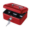Cash Box with Simple Latch and 2 Keys plus Removable Coin Tray 152mm Red