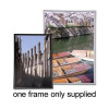 Photo Frame with Styrene Front Silver A4