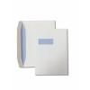 Wallet Gummed C4 White 100gsm 229 x 324mm Window 40 x 105mm 213 Up 24 Left Blue Hatch Inner Opaque (Box 250) Code ENVC4/4090