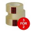 Scotch Easy Tear Transparent Tape 25mmx66m Ref ET2566T6 [Pack 6] [3 for 2] Jan-Dec 2019