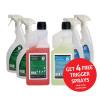 5 Star Facilities Glass/Stainless Steel Cleaner & Odour Neutraliser 1 Litre [FREE 750ml Trigger Bottles]