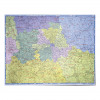 Map Marketing UK Postcode Areas Laminated Map BIPA