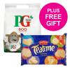 PG Tips 1 Cup Tea Bags Ref 67422456 [Pack 800] [FREE Biscuits] Jul-Sep 2018