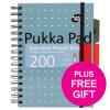 Pukka Pad Executive Project Book A5 Metallic Ref 6336-MET [Pack 3] [x2 & FREE Haribo] Jul-Sep 2018