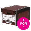 Bankers Box Premium Storage Box Classic FSC Woodgrain Ref 7250503 [Pack 12] [2 For 1] Jul 2018