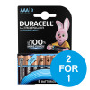 Duracell Ultra Power MX2400 Battery Alkaline 1.5V AAA Ref 81235515 [Pack 8] [2 for 1] Dec 2018