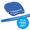 Fellowes Crystal Mouse Mat Pad with Wrist Rest Gel Blue Ref 91141 [FREE Wrist Rest] Oct-Dec 2018