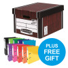 Bankers Box Premium Classic Woodgrain FSC Ref 7250503 [Pack 12] [x2 & FREE Lever Arch] Oct-Dec 2018