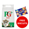 PG Tips Tea Bags Pyramid Ref 17949001 [Pack 440] [FREE Biscuits] Jan-Mar 2019
