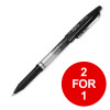 Pilot FriXion Rollerball Pen Eraser Rewriter 0.7mm Tip Black Ref 224101201 [Pack 12] [2 for 1] Feb 2019