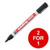 Edding 400 Permanent Marker Bullet Tip 1mm Line Black Ref 4-400001 [Pack 10] [2 for 1] Jan-Mar 2019