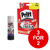 Pritt Stick Glue Solid Washable Non-toxic Large 43g Ref 1456072 [Pack 5] [3 for 2] Jan-Mar 2019