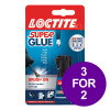 Loctite Super Glue Easy Brush in Anti-spill safety Bottle 5g Ref 87819150 [3 For 2] Apr-Jun 2019