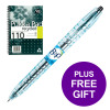 Pilot Begreen B2P Rollerball Pen 0.7mm Line Blk Ref 054101001 [Pack 10][FREE Pukka Pad Pack 3] Apr-Jun 19
