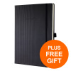 Sigel Conceptum Notebook Hard Cover Ruled Numbered 194pp A5 Blk RefCO122 [Free Pilot Pens Pk10]Jul-Sep 19