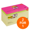 Post-it Super Sticky 76x76 90 Sheets Yellow Ref 654SS-P14CY [Pack 14+4 Colour Pads] [2 For 1] Jul-Sept 19
