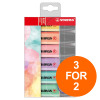 Stabilo Boss Pastel Highlighters Chisel Tip 2-5mm Pastel Ast Ref 70/6-2 [Pack 6] [3 For 2] Jul-Sept 2019