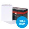 Plus Fabric Peel & Seal Pocket Envelope PEFC C4 120gm [Pack 250] [Free Box of Fox