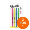 Sharpie Accent Highlighter Pens Chisel Assorted Fluorescent Ref S0907200 [Pack 4][2 for 1] Oct-Dec 2019