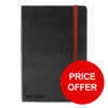 Black By Black n Red Business Journal Hard Cover Ruled and Numbered 144pp A5 Ref 400033673 [PRICE OFFER]