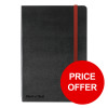 Black By Black n Red Business Journal Hard Cover Ruled and Numbered 144pp A6 Ref 400033672 [PRICE OFFER]