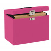 Pierre Henry File Box For Suspension Files Metal A4 Pink Ref 40986