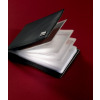 Sigel Torino Business Card Holder Leather with 20 Clear Pockets 75x110x16mm Black