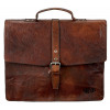 Pride and Soul Jayden Laptop Bag Leather Brown Ref 47183