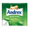 Andrex Toilet Rolls Skin Kind Aloe Vera Rippled 124x104mm 160 sheets per roll White Ref 1102160 [Pack 9]