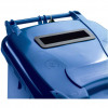 Wheeled Bin UV Stabilised Polyethylene with Rear Wheels Lid Lock 120 Litre Capacity 480x555x930mm Blue
