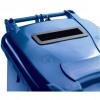 Wheeled Bin UV Stabilised Polyethylene with Rear Wheels Lid Lock 140 Litre Capacity 480x555x1070mm Blue