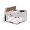 Bankers Box by Fellowes Heavy Duty Large Storage Box FSC Ref 181201 [Pack 10]