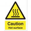 Stewart Superior Caution Hot Surface Catering Sign W150xH200mm Self-adhesive Vinyl Ref CS005SAV